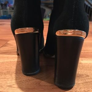 Sexy, black thigh high boots